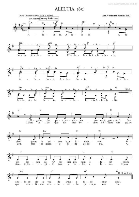 Partituras para coral evangelico pdf