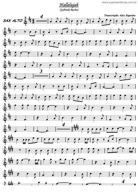 Extremamente Super Partituras - Hallelujah v.5 (Gabriela Rocha), sem cifra SZ94