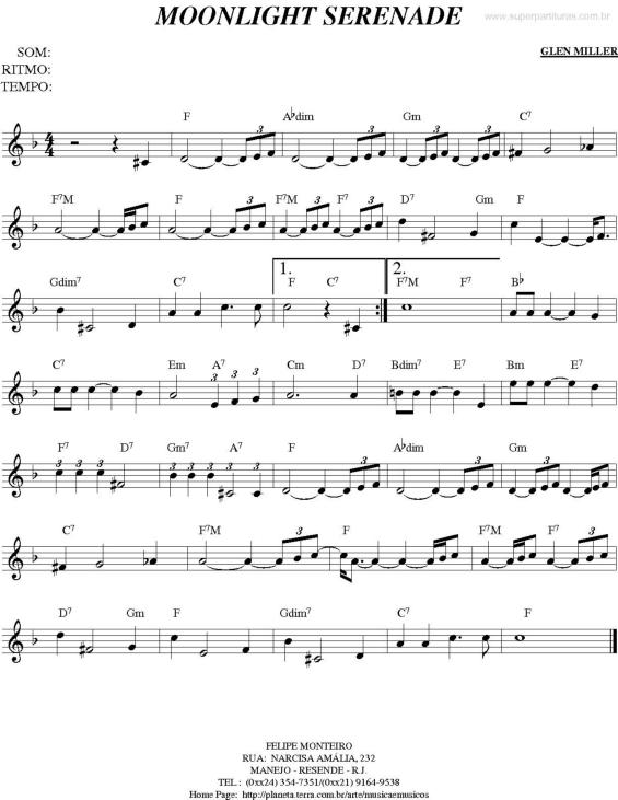 Sonata ao luar partitura
