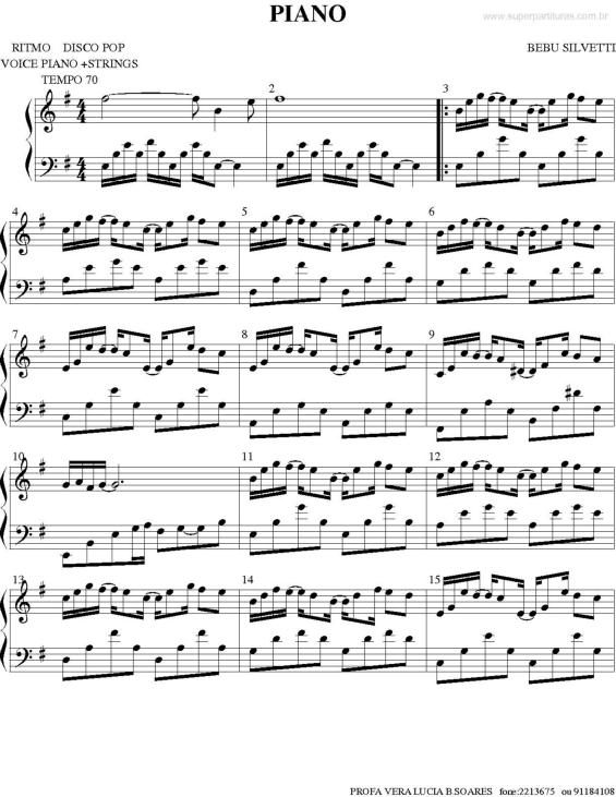 partitura piano bebu silvetti