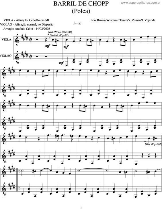 musica barril de chopp