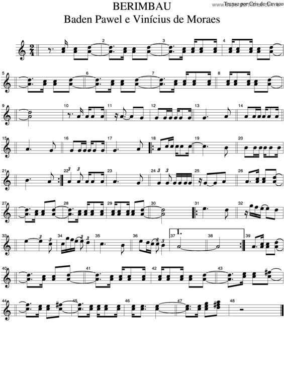 musica berimbau de vinicius de moraes