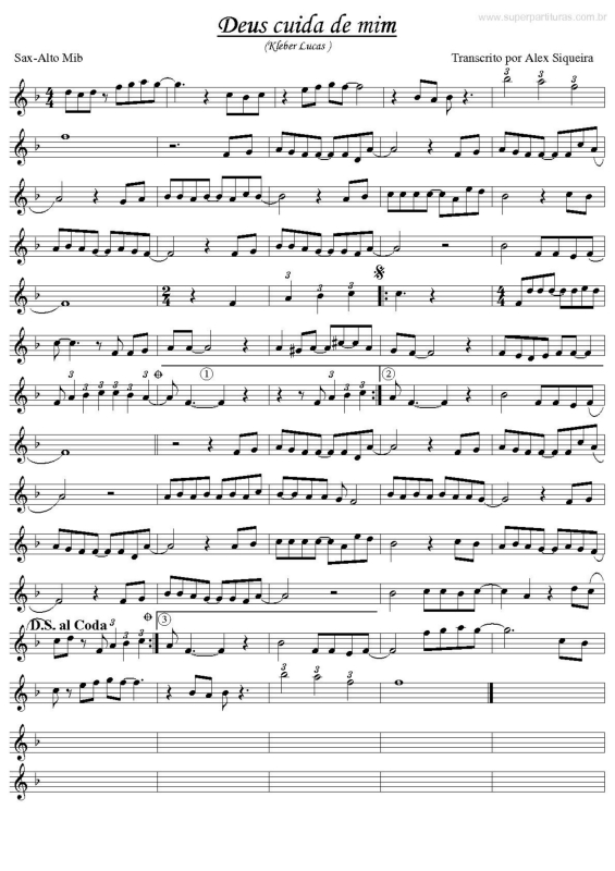 partituras para sax alto gospel em pdf