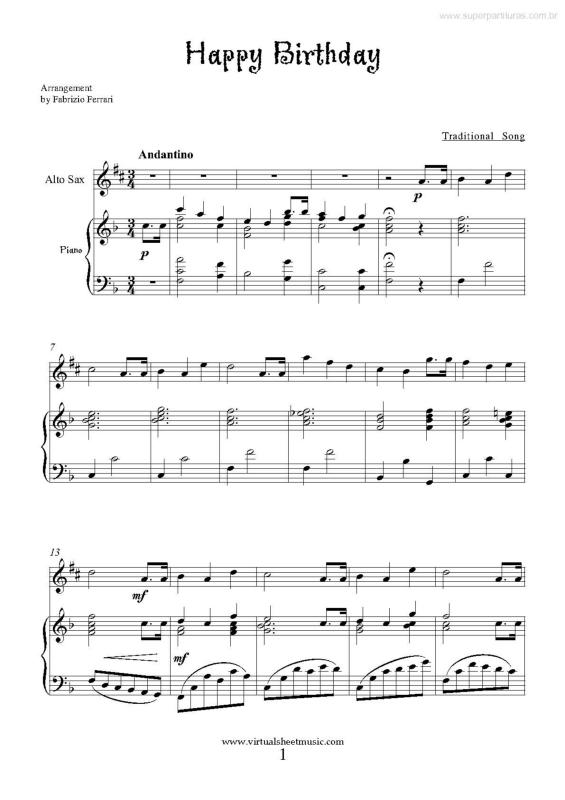 A Birthday - Score