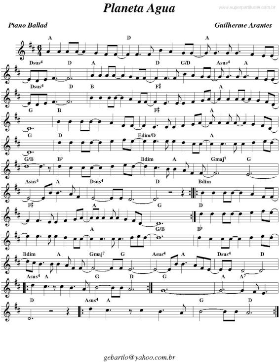 MUSICA PLANETA AGUA PARA BAIXAR GUILHERME ARANTES
