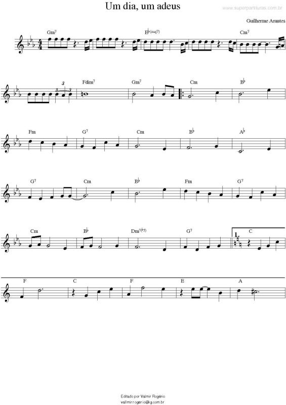 ADEUS MUSICA DIA BAIXAR UM UM ARANTES GUILHERME DO